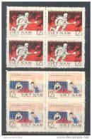 Blocks Of 4 North Vietnam Viet Nam MNH Perf Stamps 1969 : 15th Anniversary Of Liberation Of Hanoi (Ms231) - Vietnam