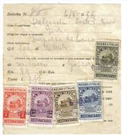 Boletta Di Trasporto Con Marche Da Bollo Destinatario 10+20+75 Cent + 1+1,25 Lire  1936  C.1457 - Italia