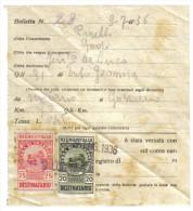 Boletta Di Trasporto Con Marche Da Bollo Destinatario 20+25 Cent  1936  C.1458 - Italia