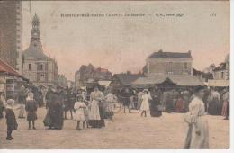 CPA 10 Aube -Romilly Sur Seine -Le Marché - Carte Colorisée - Romilly-sur-Seine