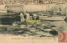 Cpa 13 La Couronne, Carro, Retour D'une Pêche Aux Thons, Affranchie 1905 - Autres Communes
