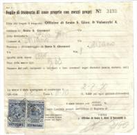 Foglio Di Trasprto Con Marche Da Bollo Vettore-destinatario 10 Cent 1936  C.1464 - Italy