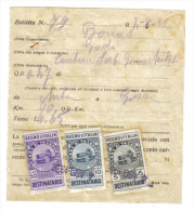 Bolletta Con Marche Da Bollo Destinatario 5+10+50 Cent 1936   C.1467 - Italia