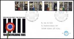 Pays-Bas 1985. Y&T 1240/3  Résistance Et Libération Sur FDC - 2. Weltkrieg