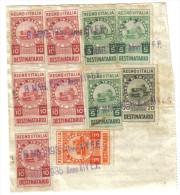Bolletta Con Marche Da Bollo Destinatario 20 Cent + 10+10+10+10+10+5+5+5+3 Lire 1935   C.1468 - Italia