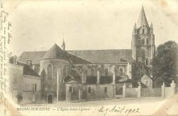 40 - CPA - MEUNG-SUR-LOIRE - L'Église Saint-Liphard - 1902 - (noir Et Blanc)  - - Other Municipalities