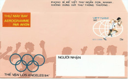REF CIRC4 - VIET NAM - AEROGRAMME NEUF ACEP  N°18 THEME JEUX OLYMPIQUES LOS ANGELES - Viêt-Nam