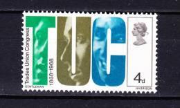 GREAT  BRITAIN   1968 , Trade Union Congress, Y&T  510 , Cv  0.25 E , ** M N H , V V F - 1952-.... (Elizabeth II)