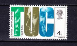 GREAT  BRITAIN   1968 , Trade Union Congress, Y&T  510 , Cv  0.25 E , ** M N H , V V F - Unclassified