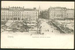 LEIPZIG MARKET OLD POSTCARD 1902 - Leipzig