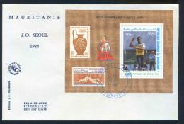 PJM20Bloc 54 - .  Jeux Olympique De Séoul   17 Sept 1988- - Mauritanië (1960-...)