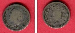LOUIS XVIII 50 CENTIMES 1822 A     TB  30 - France