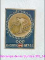Olimpic Games - Innsbruck . Downhill Skiing Badge Old 352_o4695 - Olympic Games