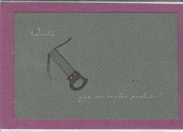 QUELLES SCIE QUE CES CARTES POSTALES    (carte Gauffrée) - Humor