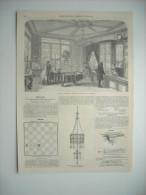 GRAVURE 1861. ORFEVRERIE CHRISTOFLE, MAGASIN DE MM. HALPHEN ET COMPAGNIE. PARIS, 25 PLACE VENDOME. AVEC EXPLICATIF. - Estampes & Gravures
