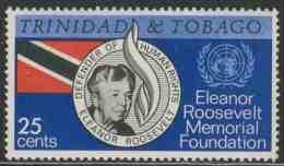 Trinidad & Tobago 1965 Mi 201 ** Eleanor Roosevelt (1884-1962) + Flag + UN-Emblem– Eleanor Roosevelt Memorial Foundation - Beroemde Vrouwen