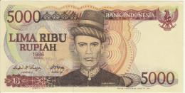 Indonesia 5000 Rupian 1986 Pick 125 UNC - Indonésie