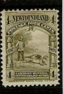 NEWFOUNDLAND 1897 4c SG 69 MOUNTED MINT Cat £11 - Newfoundland