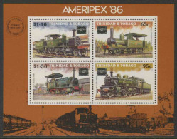 Trinidad & Tobago 1986 B 39 - Mi 530 /3 ** Trinidad Railway Locomotive / Lokomotiven - Eisenbahn - Treinen