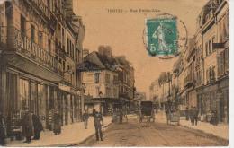 CPA 10 Aube - TROYES - Rue Emile Zola - Carte Animée - - Carte Colorée Glacée - Troyes