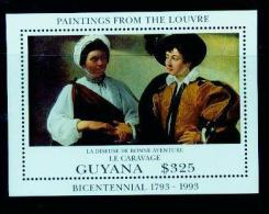 Guyana 1993 Caravaggio Paintings Louvre Collections Sheetlet MNH - Unclassified