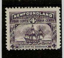 NEWFOUNDLAND 1910 4c  SG 98  LIGHTLY MOUNTED MINT Cat £25 - 1908-1947