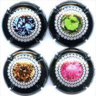 """Lot De  4 Capsules Génériques  """"diamants"""" N°885 à 885c - Champagne"""