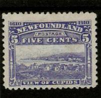 NEWFOUNDLAND 1910 5c  SG 99  PERF 12  MOUNTED MINT Cat £50 - 1908-1947