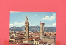ITALIE :  FIRENZE Campanile Della Chiese Di Badia E Torre Del Bargello - Firenze (Florence)