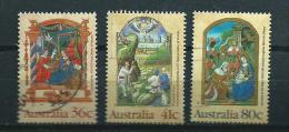 1989 Australia Complete Set Christmas,kerst,noël,weihnachten Used/gebruikt/oblitere - 1980-89 Elizabeth II