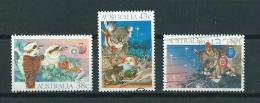 1990 Australia Complete Set Christmas,kerst,noël,weihnachten Used/gebruikt/oblitere - 1990-99 Elizabeth II