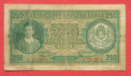 B374 /  1943 - 250 LEVA - Bulgaria Bulgarie Bulgarien Bulgarije - Banknotes Banknoten Billets Banconote - Bulgarije