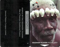 "SOLOMON ISLANDS $10 PEOPLE OF SI MAN FROM TURARANA 1ST TYPE ""B"" ON REVERSE 1993 GPT CODE: SOL-05A READ DESCRIPTION !! - Isole Salomon"