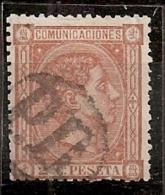 """ESPAÑA 1875 - Edifil #165a - VFU - Matasellos Frances """"Payé Destination"""" - Usados"""
