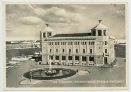 SIRACUSA PALAZZO DELLE POSTE E FONTANA 1950 - Siracusa
