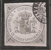 ESPAÑA 1875 - Edifil #172 - VFU - Usati