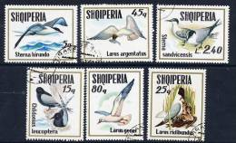 ALBANIA 1973 Sea Birds Set Used Michel 1620-25 - Albania