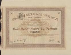 ÉCLAIRAGE & SCAPHANDRIER / Compagnie D´Éclairage DENAYROUZE , 1896 + Publicité + Notices ( Espalion , Aveyron ) - Electricidad & Gas