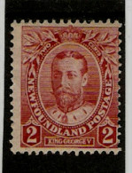 NEWFOUNDLAND 1911 2c  CARMINE SG 118 MINT NO GUM Cat £12 - 1908-1947