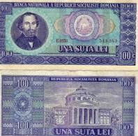 Romania 100 Lei 1966 Currency Cat # P97a F Vf - Roumanie