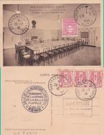 """ARC DE TRIOMPHE 1F50 OBL """" 7/5/45 REIMS EMILE ZOLA MARNE"""" REDDITION ALLEMAGNE + CONFERENCE PAIX Sur CP - CHAINES - Marcophilie (Lettres)"""