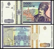 ROMANIA 5000 LEI 1993 P104 Vf - Roumanie