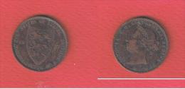 JERSEY  ///   1/24 SCHILLING 1877    ///  état TB - Jersey