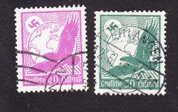 Germany, Scott #C51-C52, Used, Swastika, Sun, Globe And Eagle, Issued 1934 - Airmail
