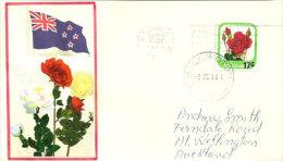 NOUVELLE-ZÉLANDE.   Rose Cresset, Enveloppe Souvenir Premier Jour 9 Dec. 1979 - FDC