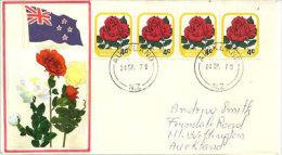 NOUVELLE-ZÉLANDE.    Rose Josephine Bruce, Enveloppe Souvenir Premier Jour 24 Sept.1979 - FDC