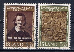 IS Island 1963 Mi 368-69 Nationalmuseum - 1944-... Republik