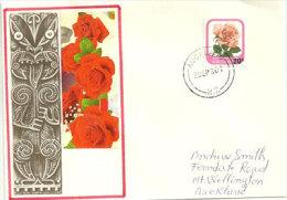 NOUVELLE-ZÉLANDE.     Rose Michele Meilland, Enveloppe Souvenir Premier Jour 29 Sept.1980 - FDC