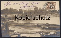 ALTE POSTKARTE SPEYER AM RHEIN DAMPFLOK AUF BRÜCKE Locomotive à Vapeur Steam Engine Train Postcard Cpa AK Ansichtskarte - Trains