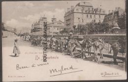 63----LA BOURBOULE---La Place Aux Anes--animé---précurseur - La Bourboule